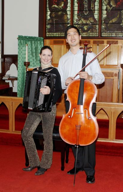 """The Hungarian Cello"" - Jelena Milosevic (accordion) and Brian Yoon (cello), June 12, 2016"