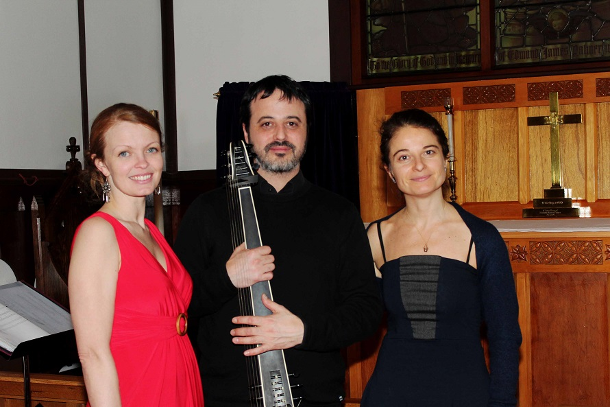 """Obsession's Garden"" - Camille Hesketh (soprano), Guzman Ramos (theorbo), and Terri Hron (composer), February 14, 2016"