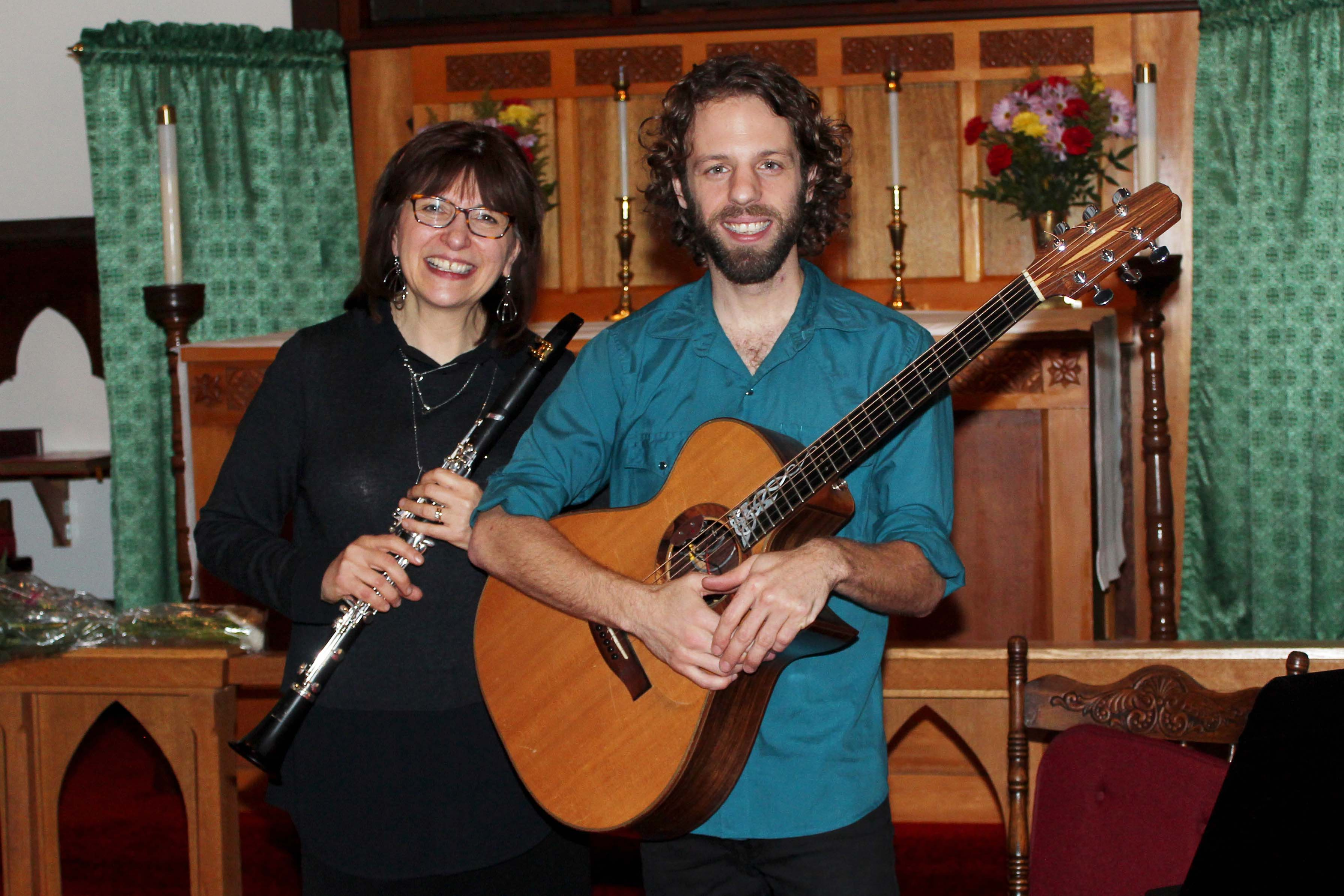 """The Klezmer Clarinet"" - Connie Gitlin (clarinet) with guest Adam Dobres (guitar), November 13, 2016"