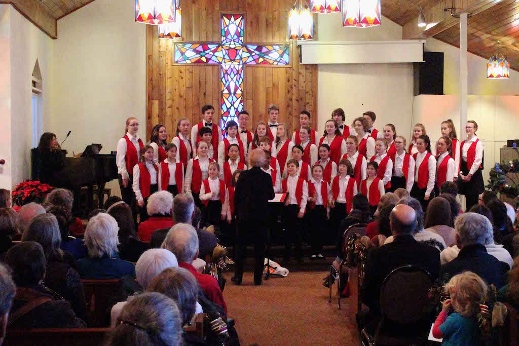 """Welcome December"" - Cowichan Valley Youth Choirs directed by Sheila Johnson, December 11, 2016"
