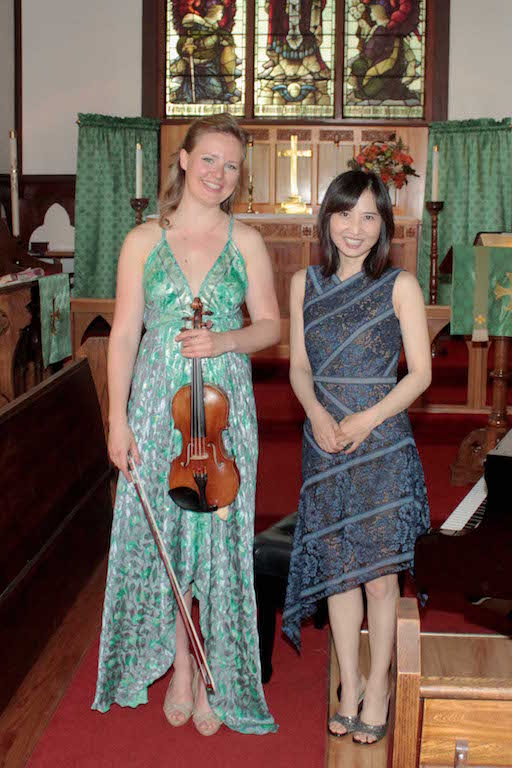 """From the Heart"" - Natasha Hall (violin) and Yoomi Kim (piano), June 11, 2017"