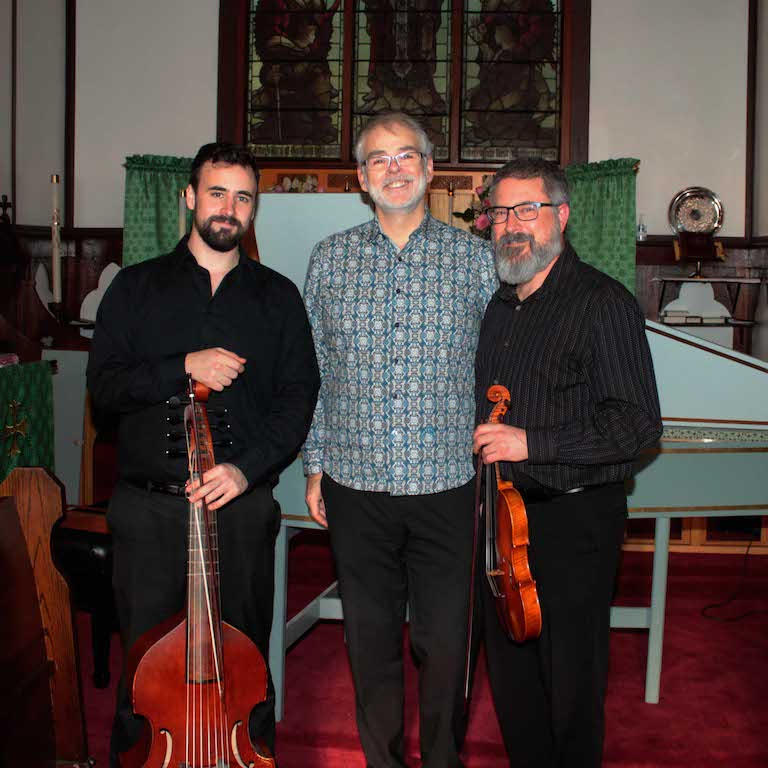 """Stylus Fantasticus"" - Sam Stadlen (viola da gamba), Michael Jarvis (harpsichord), and Paul Luchkow (violin), October 22, 2017"